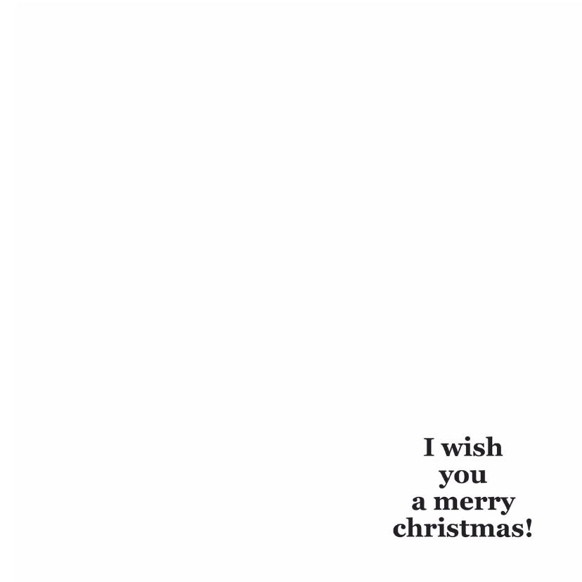 I wish you a merry christmas! 3