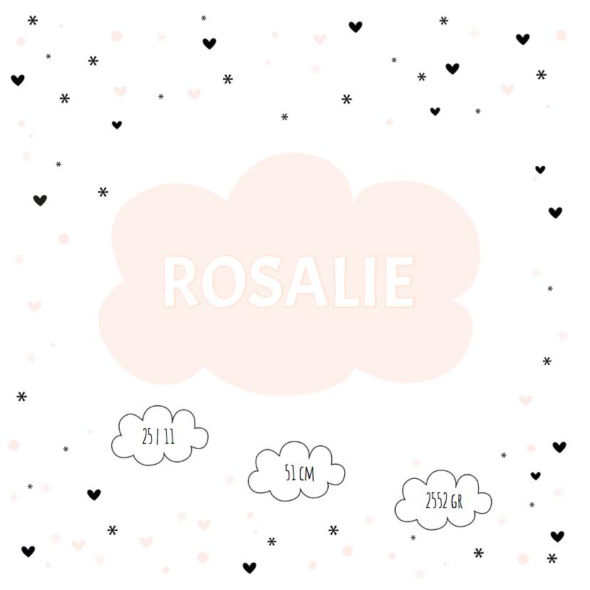 In de wolkjes roze geboortekaart 3