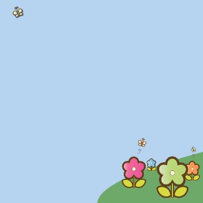 its a girl met regenboog en bloemen 3