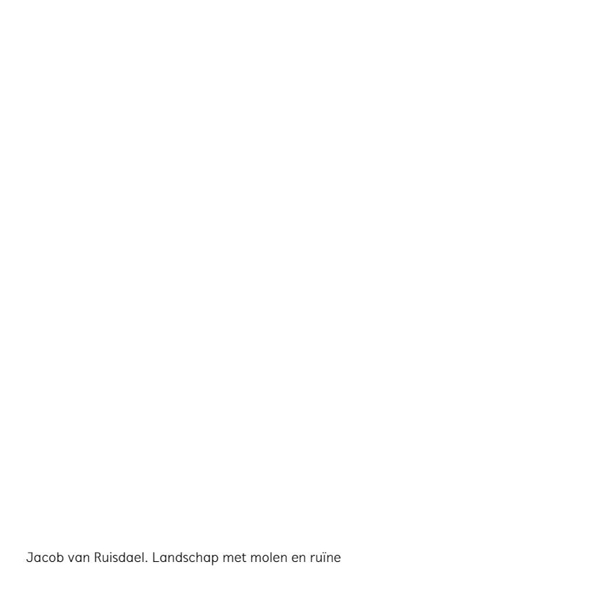 Jacob van Ruisdael. Landschap met molen en ruïne 2
