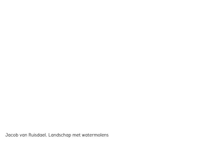 Jacob van Ruisdael.  Landschap met watermolens 3