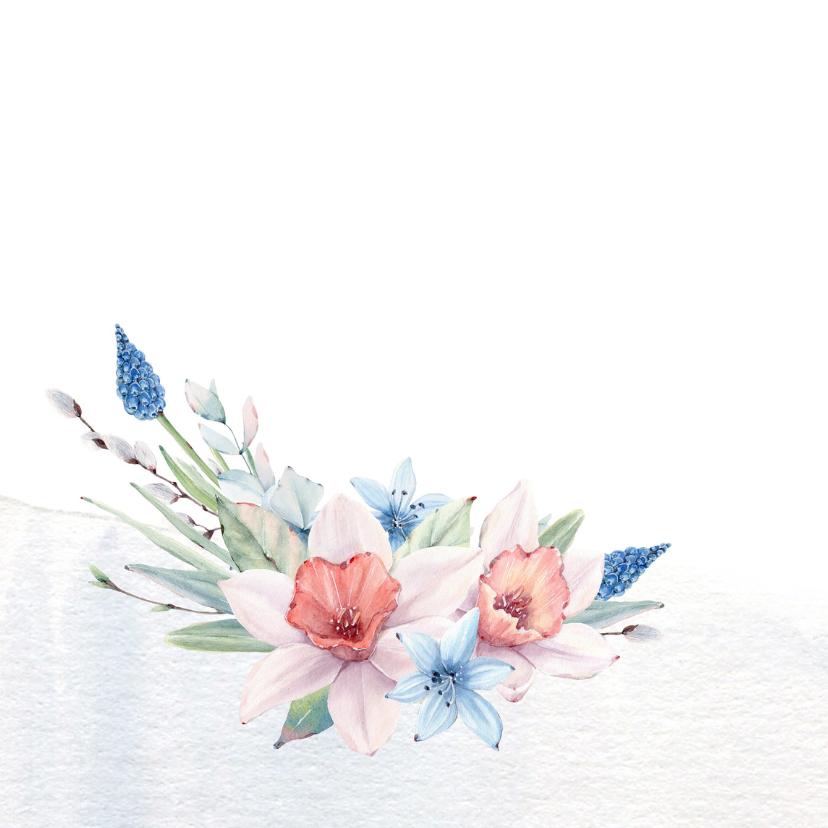 Jarigkaart  voorjaarsboeket  2