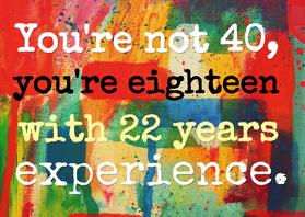 Verjaardagskaarten - Je bent geen 40