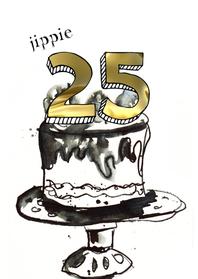 Verjaardagskaarten - Jippie 25 jaar