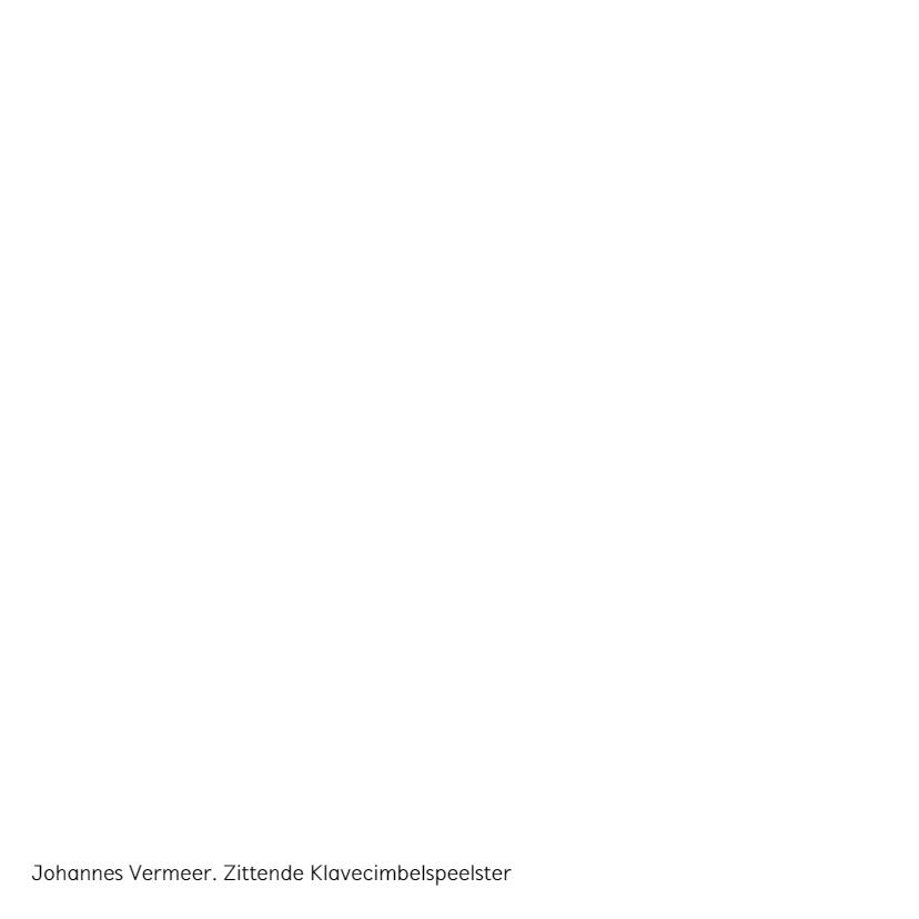 Johannes Vermeer. Zittende Klavecimbelspeelster 2