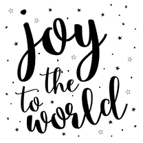 Kerstkaarten - Joy to the World - Kerst