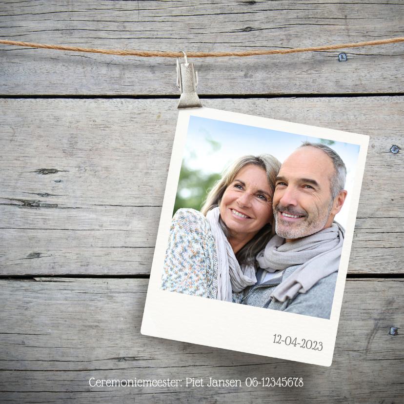 Jubileum 25 jaar huwelijk hout 2