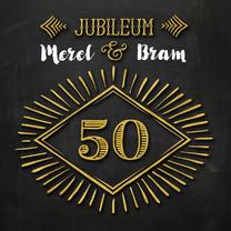 Jubileumkaarten - Jubileum 50 goud krijt SG