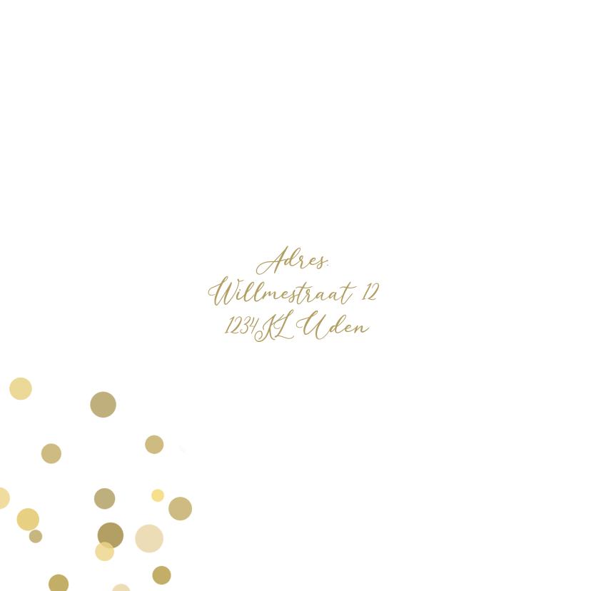 Jubileum confetti goud av 2