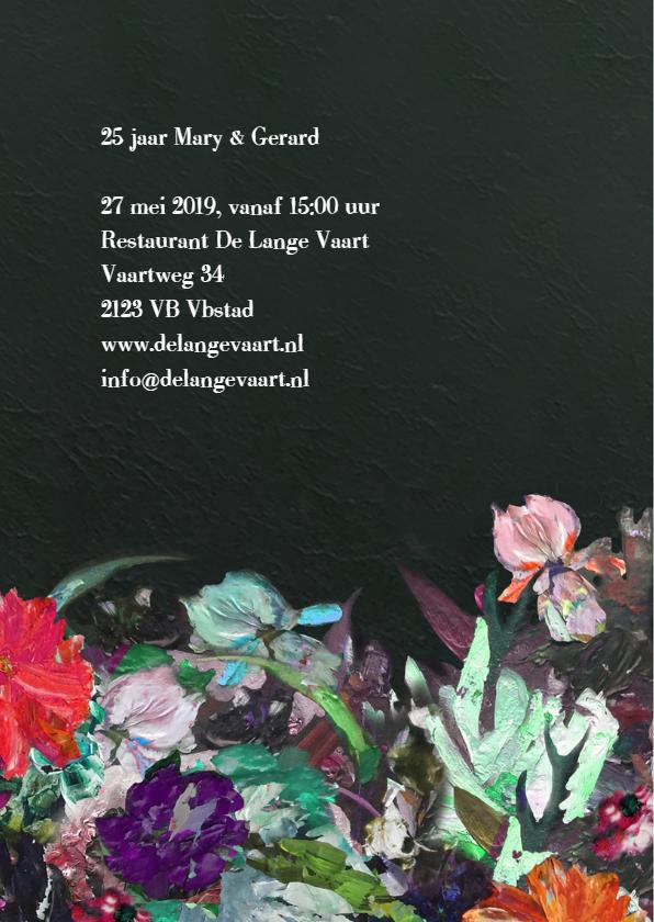 Jubileum Getal - kunst bloemen 2