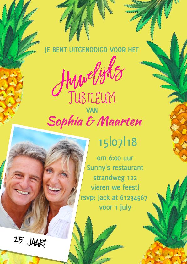 Jubileum huwelijk zomerfeest uitnodigingen kaartje go
