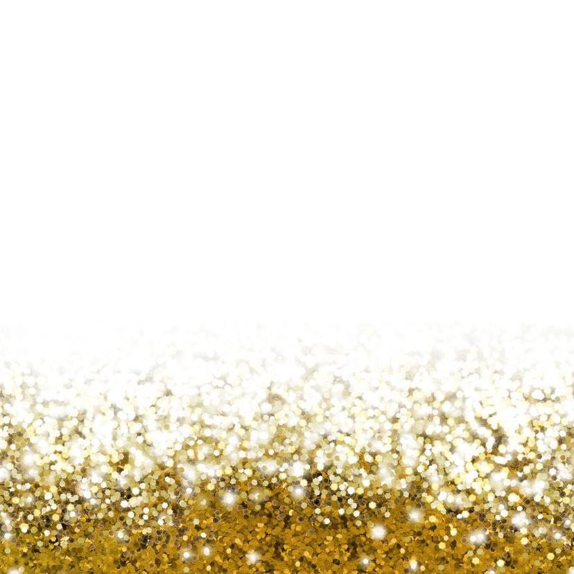 Jubileum medewerker glitter goud vierkant met logo 2