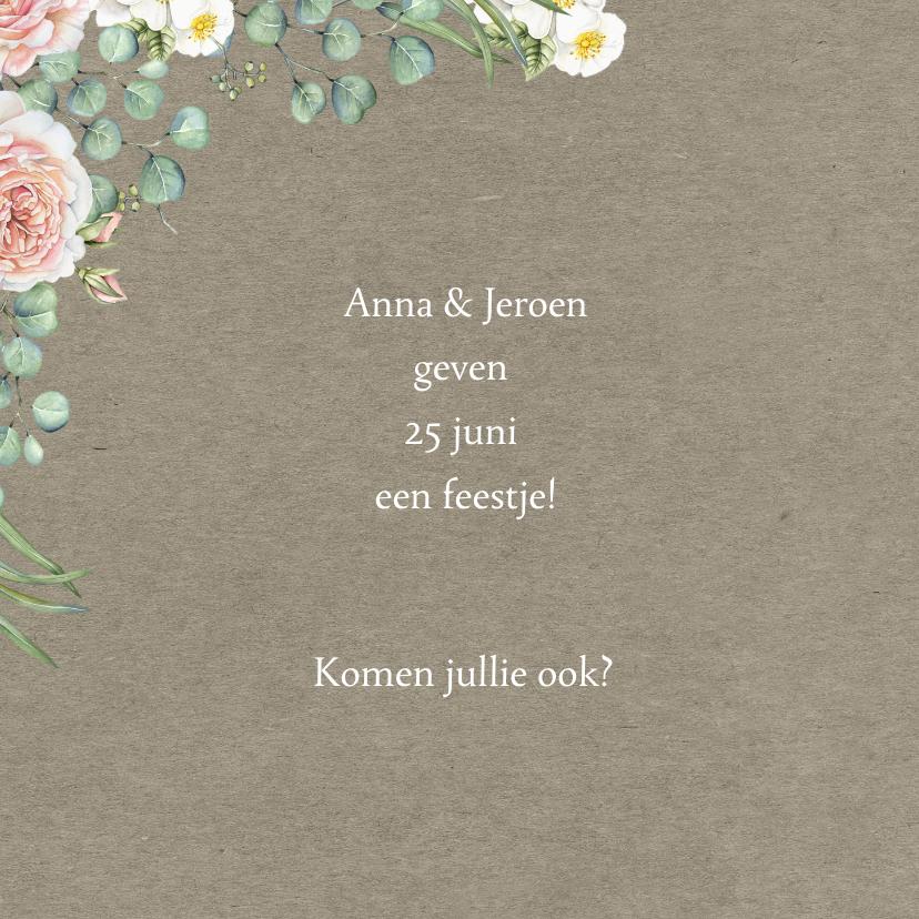 Jubileum rozen met eucalyptus 2