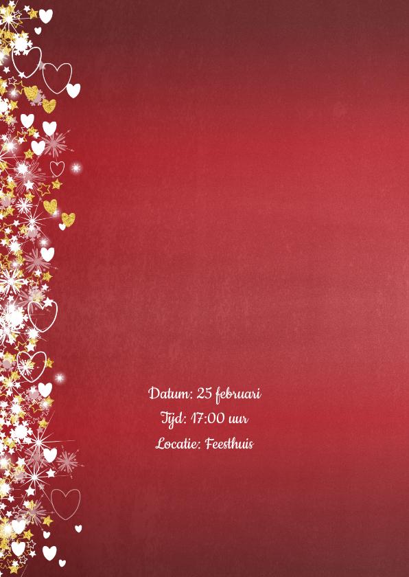 Jubileum trouwdag stijlvolle rode foto uitnodiging 2