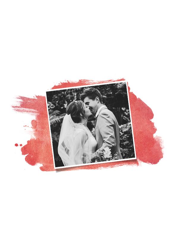 Jubileum uitnodiging 40 jaar stijlvol met rode verf en foto 2