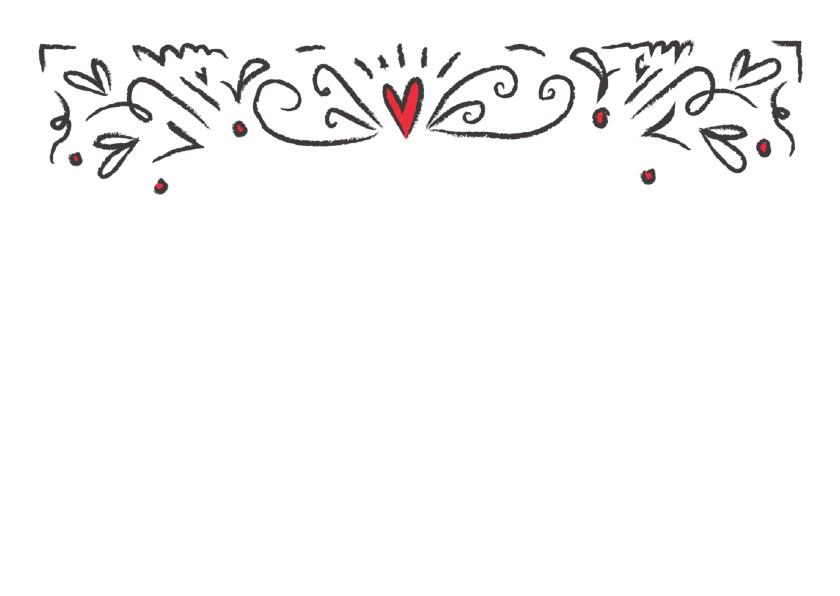 Jubileum uitnodigingskaart 25 jaar getrouwd hartjes 2