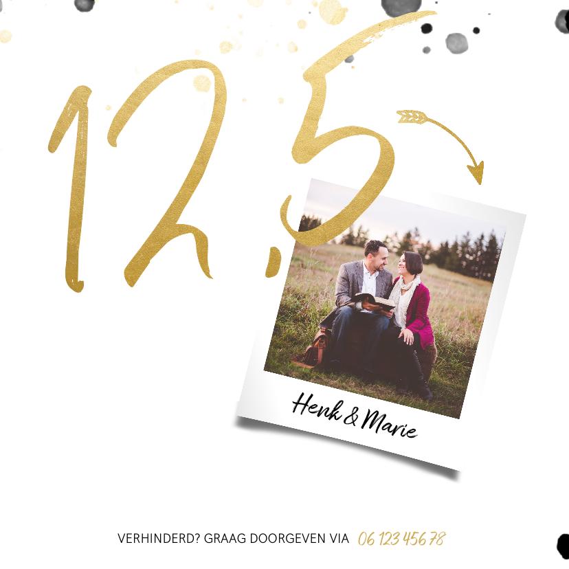 Jubileumkaart '12,5' met spetters en foto 2