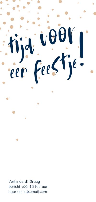 Jubileumkaart '25 jaar getrouwd!' met confetti 2