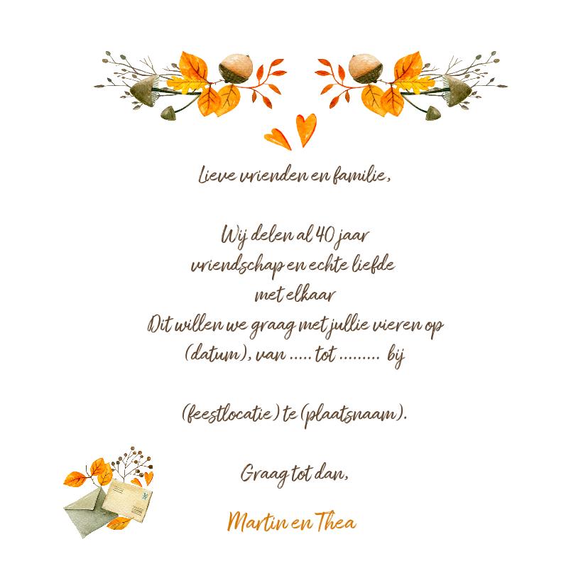Jubileumkaart 40 jaar getrouwd kaart - IR 3