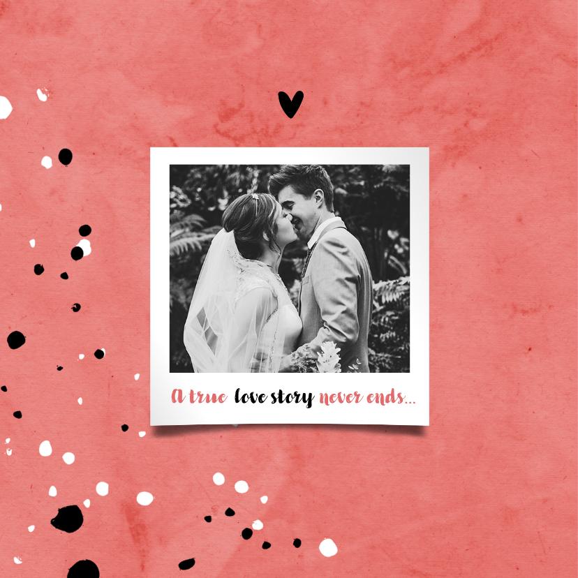 Jubileumkaart 40 jaar huwelijk rood stijlvol en hip 2