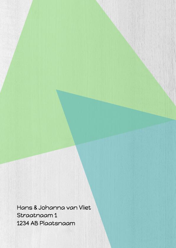 Jubileumkaart 40 jarig huwelijk geometrisch - DH 2
