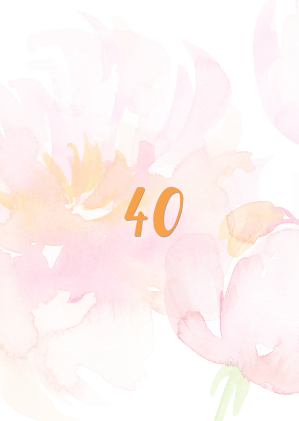 Jubileumkaart 40-jarig huwelijk 2