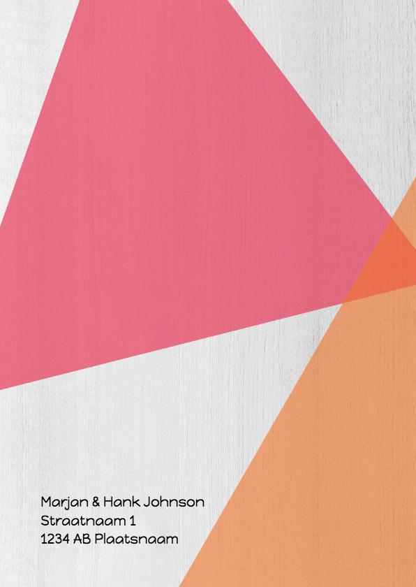 Jubileumkaart 50 jaar samen geometrisch - DH 2
