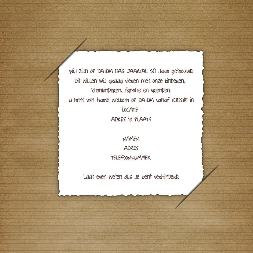 Jubileumkaart foto en tekstballon  3