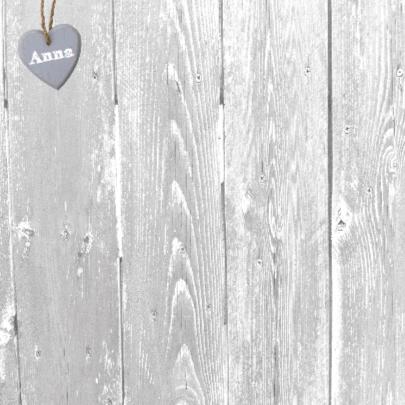 jubileumkaart met 2 grote houten harten 2