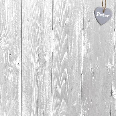 jubileumkaart met 2 grote houten harten 3