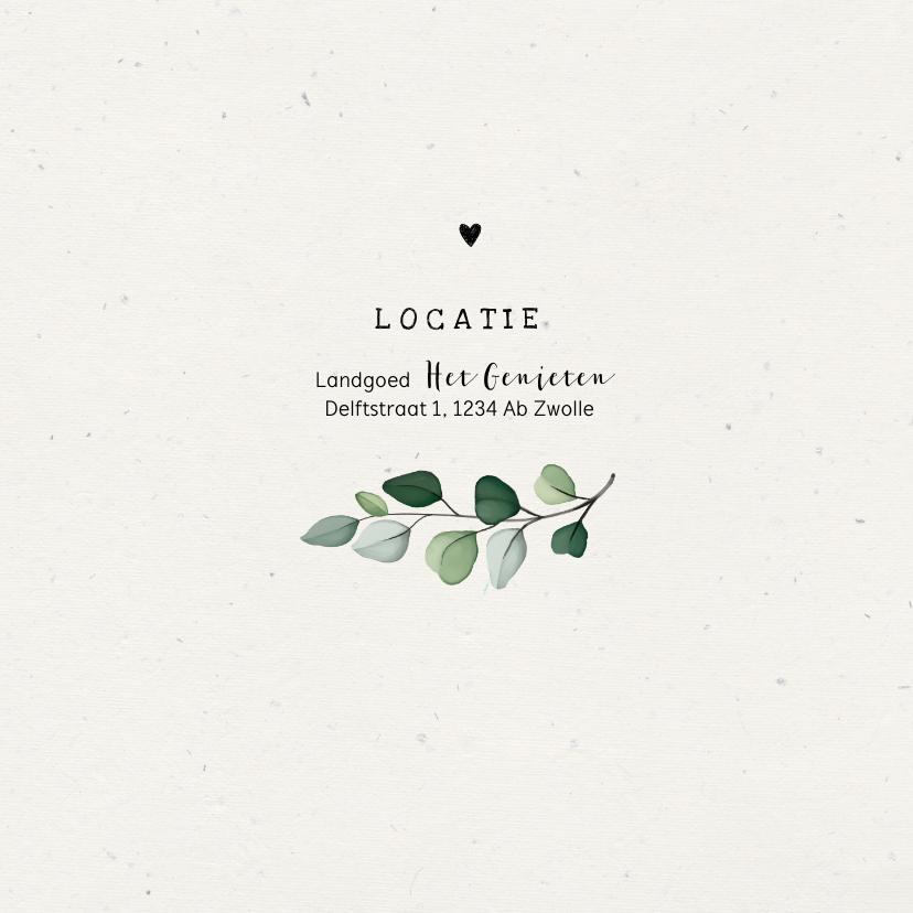 Jubileumkaart stijlvol botanisch met eigen foto's 2