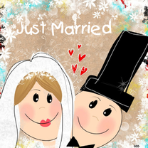 Felicitatiekaarten - Just Married