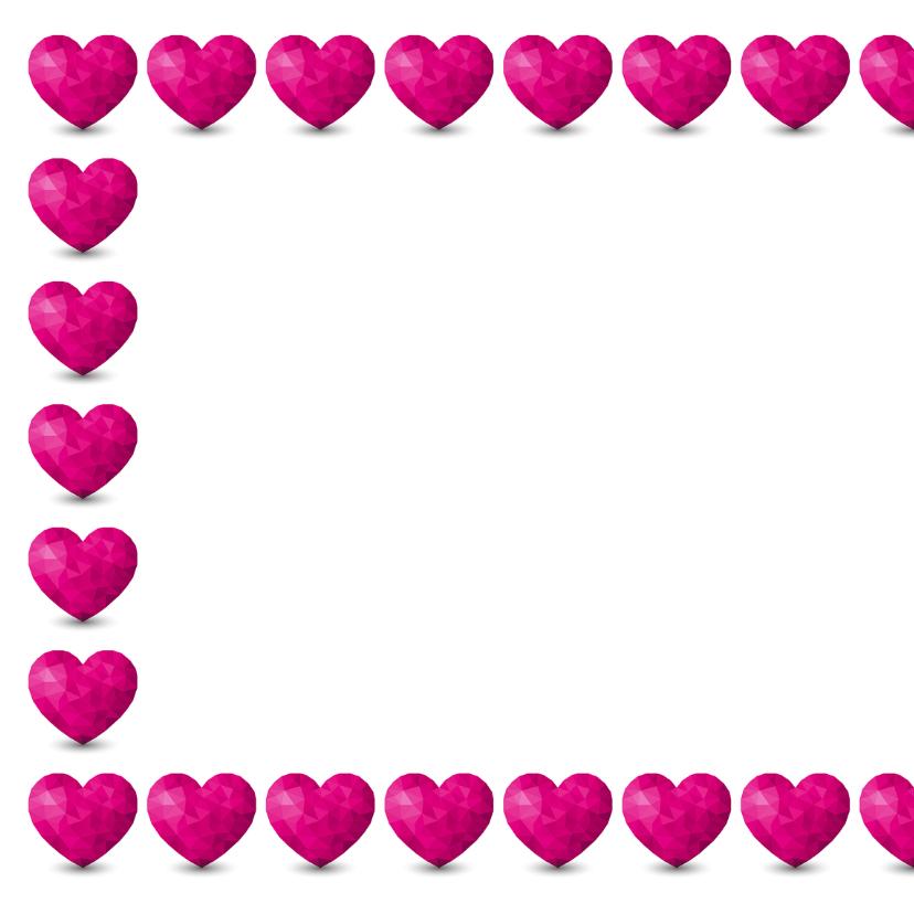 Kaart met  hartjes voor iemand met een hart van goud 2