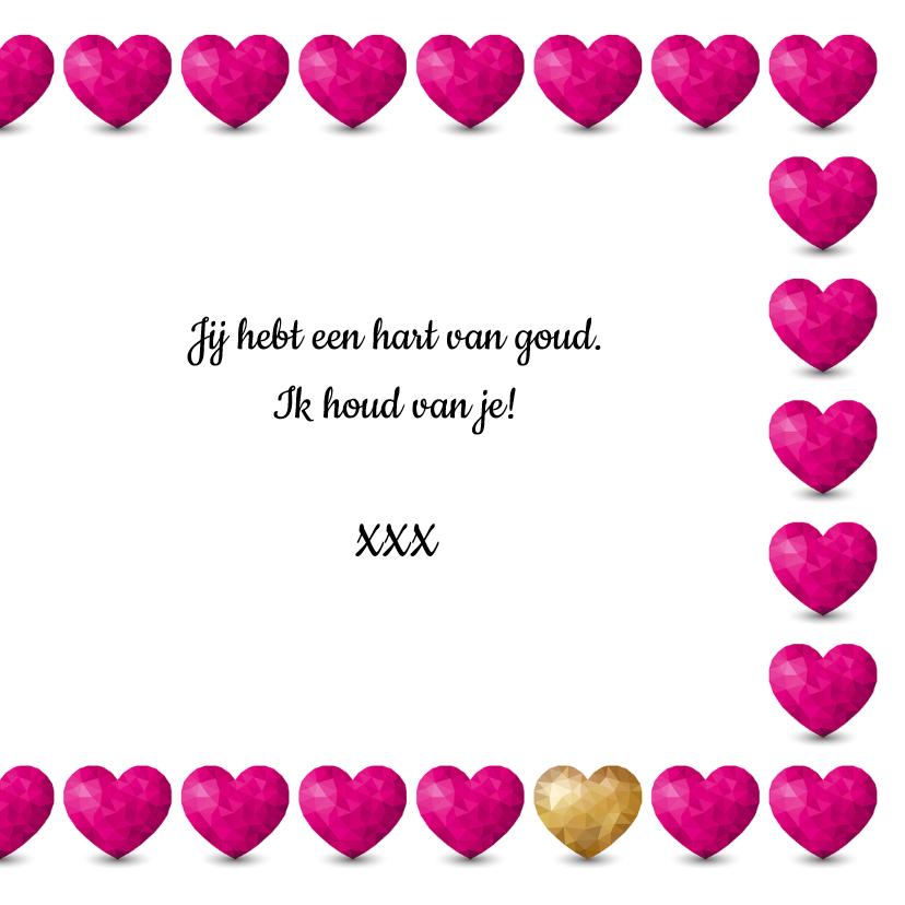 Kaart met  hartjes voor iemand met een hart van goud 3