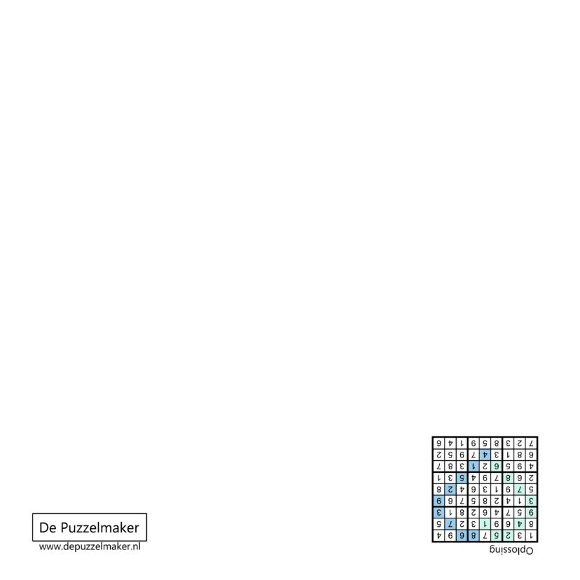 Kaart met sudoku in hartvorm en hart in blauw 2