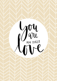 Kaart You are my first love-HM