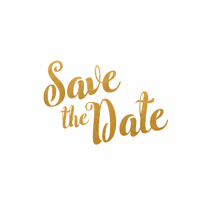 Kalender goud Save the Date - BK 2