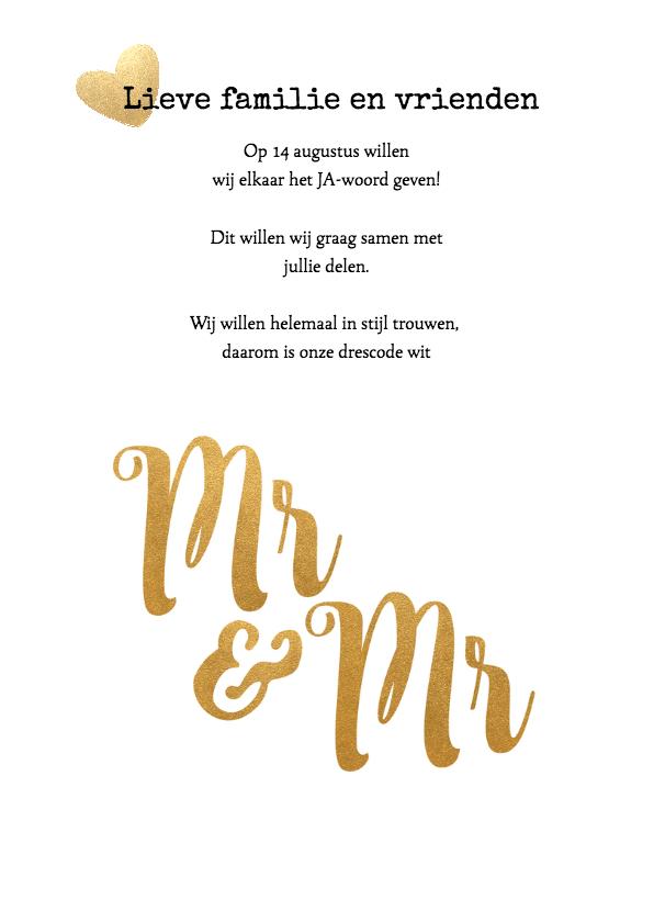 Kalender Mr & Mr goud - BK 2