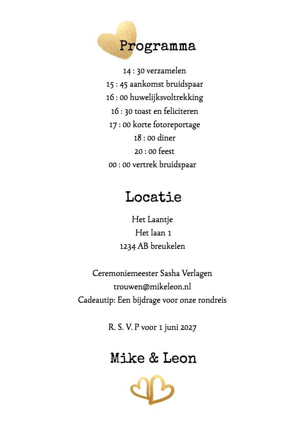 Kalender Mr & Mr goud - BK 3