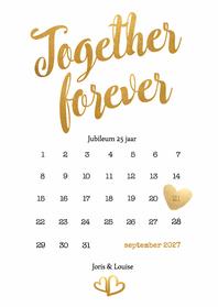Jubileumkaarten - Kalender Together forever - BK