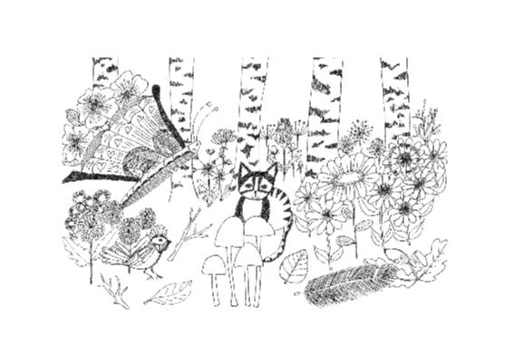 Kat in het bos 2