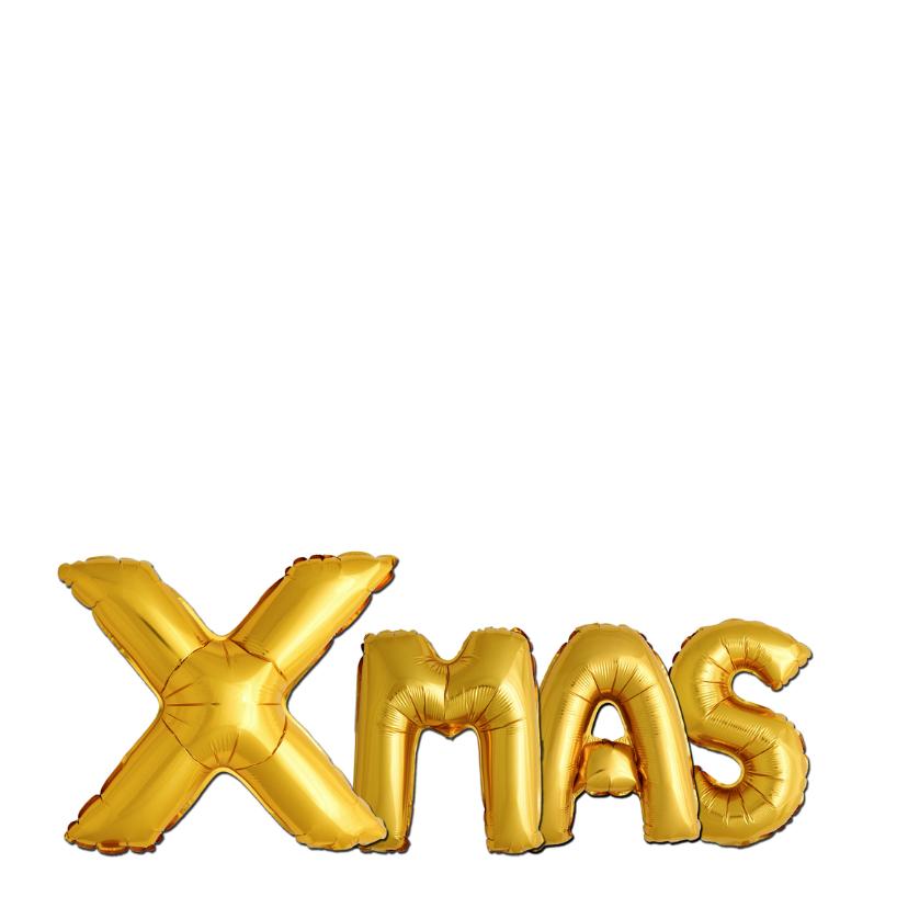 Kerst ballonnen goudkleurig - OT 2