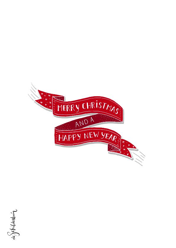 Kerst banner en sparretakken fotokaart 2
