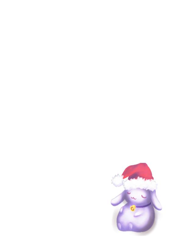 Kerst - Chubby bunnies bij raam 3