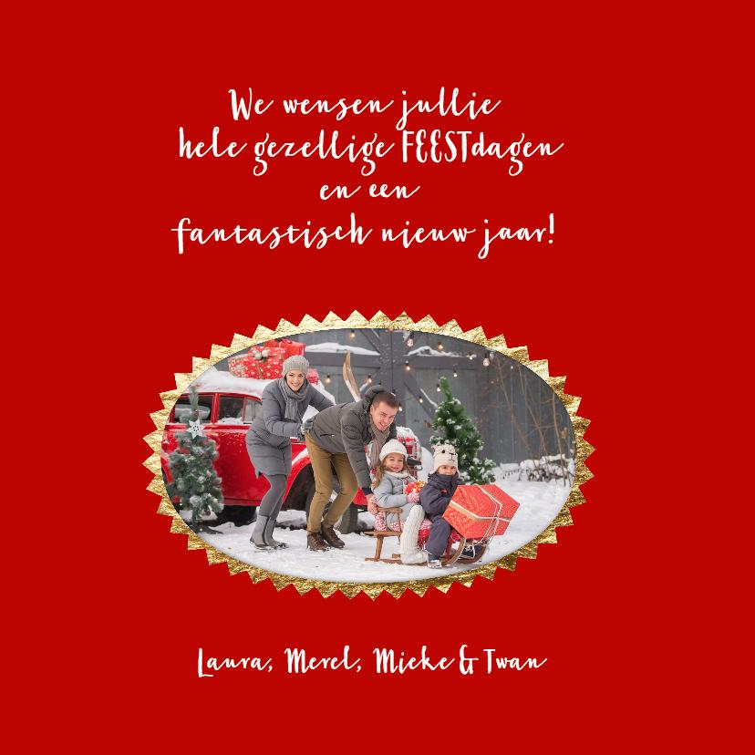 Kerst collage - Merry Christmas gouden zonstralen 3