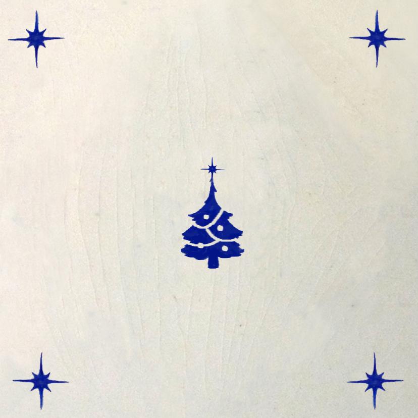 Kerst Delftsblauwe tegel 2