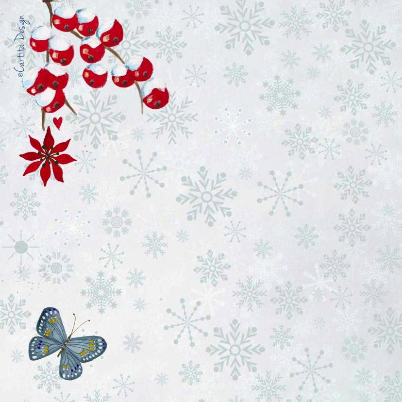 Kerst eigen foto Blue SNEEUW notitie 2