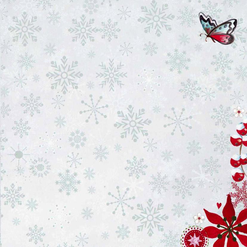 Kerst eigen foto Blue SNEEUW notitie 3