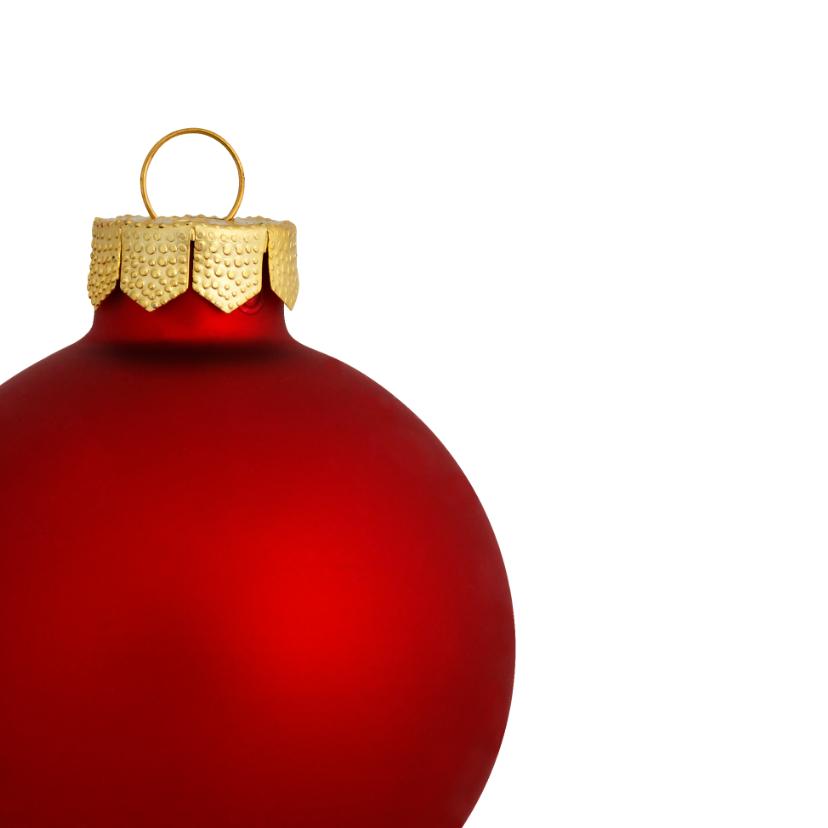 Kerst eigenfoto rode kerstbal 2018 - OT 2