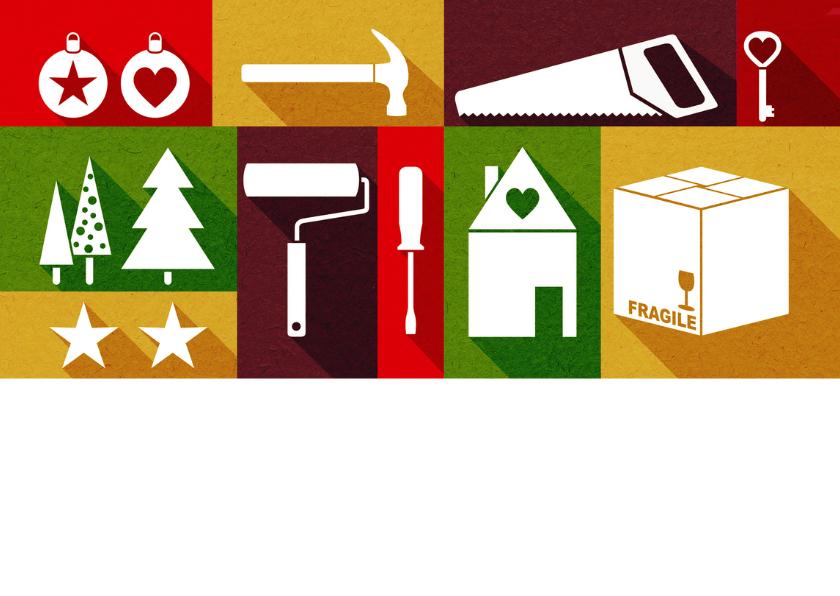 Kerst en verhuiskaart eigen foto strak 2